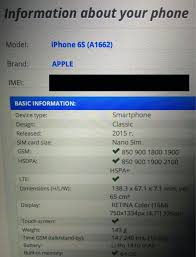 IMEI check is saying my phone is a different model