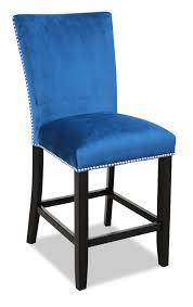 100 Desjardins Elegance Cami CounterHeight Dining Chair Blue