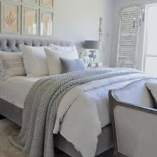 Lovely Decoration White And Grey Bedroom 15 Must