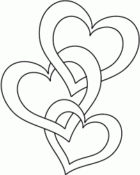 Coloring For Kids Free Heart Pages On 12