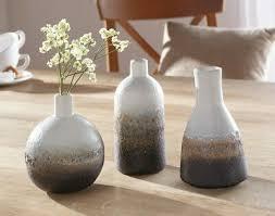 dekoration vase töpfe gold deko metallvase 3er set