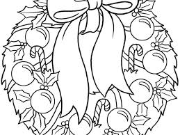 Detail Of Christmas Wreath Coloring Page