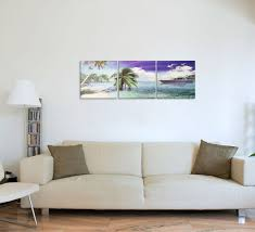 Tropical Yacht Living 3 Piece Canvas Art Print