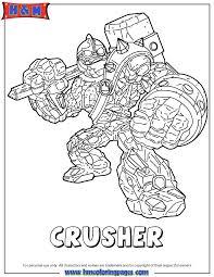 Skylanders Giants Crusher Coloring Page