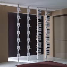 shelving floor to ceiling tensioned high quality designer