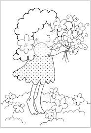 Spring Bouquet Coloring Page