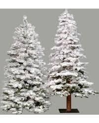 6 Ft Flocked Spruce Alpine Medium Pre Lit Christmas Tree