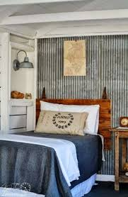 Cottage Guest House With Barn Gate Headboard And Light Via Knick Of Time