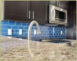 blue subway tile kitchen backsplash home design ideas