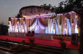 1 Evening Wedding Stage Decoration Idea In Garden