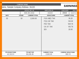10 sample paycheck stub for students