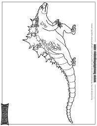 Godzilla Monster Coloring Page