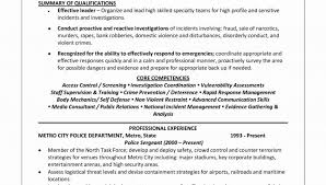 Law Enforcement Officer Resume Examples Federal Samples Entry Impressive Template 960