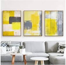 cqzk modern style abstrakt farbe gelb grau weiß leinwand