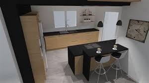 plan ilot cuisine ilot cuisine bois massif 3 cuisine plan de travail en lot de