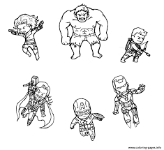 Mini Avengers Marvel Coloring Pages Print Download 212 Prints
