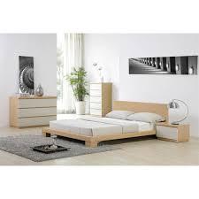 chambre chene blanchi lit 140 cm décor chêne clair 90 de reduc à 59 euros