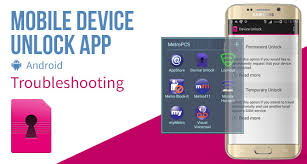 Mobile Device Unlock App Android Troubleshooting