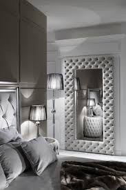 Designs That Reflect Personality Bedroom Wall Mirror 3 The Large Modern Button Upholstered Nubuck Leather Is Striking A Hand Crafted