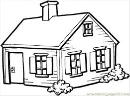 Small House Colouring Pages