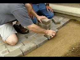 how to lay a brick paver walkway this house