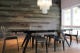 Dining Room Accent Wall Reclaimed Barn Wood In The Contemporary R