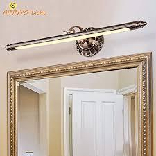 modern landhaus spiegelleuchte bad beleuchtung 50cm led spiegelle beschlagfrei schminklicht vintage retro metall wandleuchte antik badezimmer