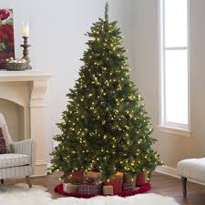 Downswept Pencil Christmas Tree by Classic Pine Full Pre Lit Christmas Tree 10 Ft Clear Hayneedle