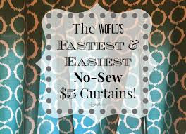 The World s Fastest & Easiest No Sew $5 Curtains –