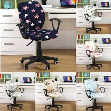 Flower Printing Rotating Office Computer Chair Cover ... Leather Office Chair Cover Beandsonsco View Photos Of Executive Office Chair Slipcovers Showing 15 Melaluxe Cover Universal Stretch Desk Computer Size L Saan Bibili Help Gloves Shihualinetm Cloth Pads Removable Gallery 12 20 Size Washable Arm Slipcover Rotating Lift Covers Chairs Without Arms Ikea Ding Room Slipcover Eleoption Seat High Back Large For Swivel Boss Lms C Best With Lumbar Support Small