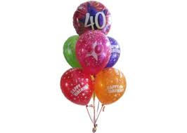 Birthday Balloons Perth 40th Birthday balloons Helium Balloons Perth
