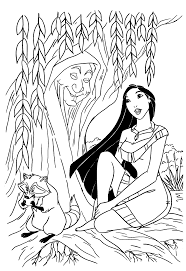 Pocahontas Coloring Pages Grandmother Willow Tree