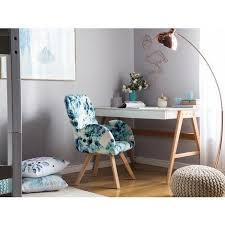 sessel bunt blumenmotiv polsterbezug gummibaumholz abgerundete armlehnen schlafzimmer wohnzimmer