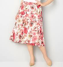 floral a line midi skirt plus size skirt avenue