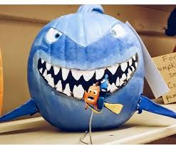 Easy Shark Pumpkin Carving by Pixar Finding Nemo Bruce Pumpkin Halloween Pinterest Finding