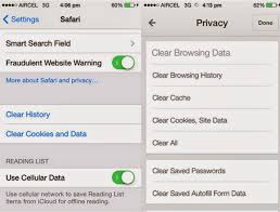 Erase iPhone Data How to Delete app cache cookies and temp files