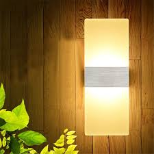Modern Led Bathroom Sconces by 6w 12w Modern Led Wall Lamps Acrylic Bed Room Wall Light Living
