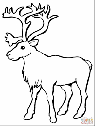 Impressive Reindeer Head Santa And Sleigh With Coloring Page Face
