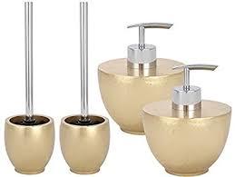 wenko elegance gold badezimmer komfort set 4 teilig 4 in 1