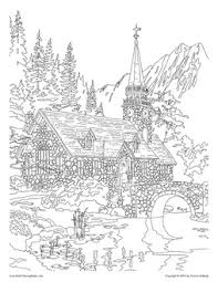 Mountains Coloring Pages From Adult Books