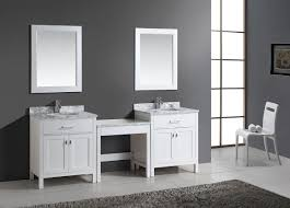 two 30 london single sink vanity set in white and one make up