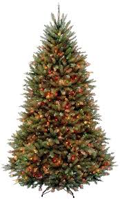 8 Ft Pre Lit Multicolor Christmas Tree by Amazon Com National Tree 6 5 Foot Dunhill Fir Tree With 650