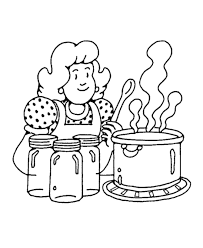 Joyous Cooking Coloring Pages To Download And Print For Free