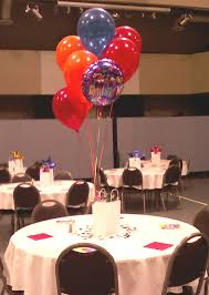 Dinner Table At Retirement Party With Balloons