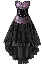 atomic two piece victorian inspired corset and skirt corset