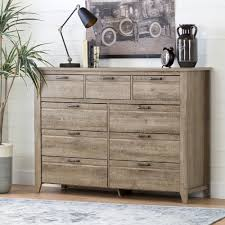 South Shore Furniture Dressers by South Shore Lionel 9 Drawer Weathered Oak Dresser 10252 The Home