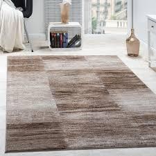 wohnzimmer teppich karo meliert braun beige