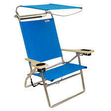Canopy Hi-Seat Aluminum Beach Chair - Light Blue | Beach ...