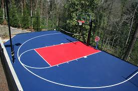 Amazon.com : IncStores Outdoor Baskteball Court Flooring - Half ... Outdoor Courts For Sport Backyard Basketball Court Gym Floors 6 Reasons To Install A Synlawn Design Enchanting Flooring Backyards Winsome Surfaces And Paint 50 Quecasita Download Cost Garden Splendid A 123 Installation Large Patio Turned System Photo Album Fascating Paver Yard Decor Ideas Building The At The American Center Youtube With Images On And Commercial Facilities
