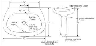 Kitchen Sink Drain Pipe Diagram by Bathroom Sink Wonderful Standard Size For Kitchen Sink Drain